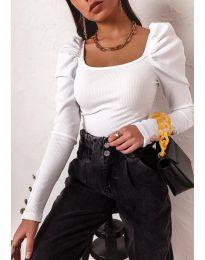 Блуза - код 11517 - бело