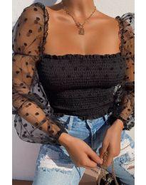 Блуза - код 4419 - црна