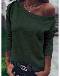 Блуза - код 4417 - путер зелена