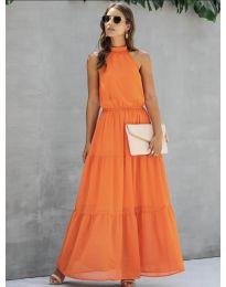 Фустан - код 8855 - портокалова