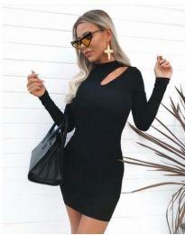Фустан - код 11411 - 1 - црна