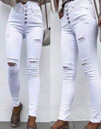 Фармерки - код 4397 - 1 - бело
