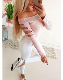 Блуза - код 3470 - розова