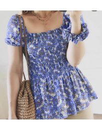 Блуза - код 3464 - виолетова