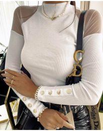 Блуза - код 2771 - бело
