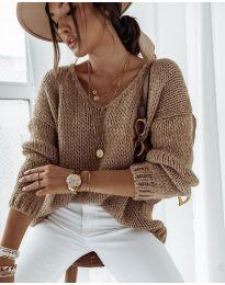 Блуза - код 112 - кафеава