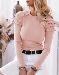 Блуза - код 1645 - 2 - розова
