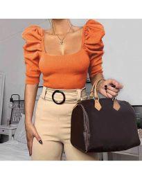 Блуза - код 9867 - портокалова