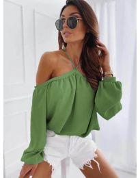 Блуза - код 6561 - зелена