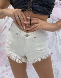 Кратки панталони - код 4548 - 3 - бела