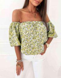 Блуза - код 2708 - жолта