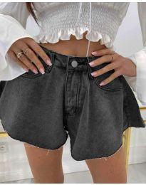 Кратки панталони - код 3880 - 1 - сиво