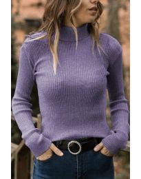 Блуза - код 518 - светло виолетова