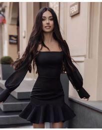 Фустан - код 3605 - црна