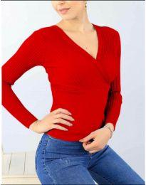 Блуза - код 6455 - црвена