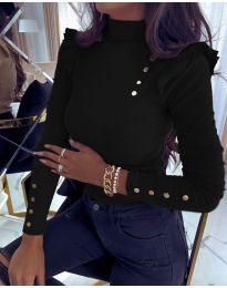 Блуза - код 11483 - 1 - црна