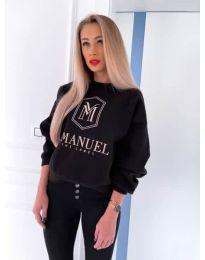 Блуза - код 4234 - црна