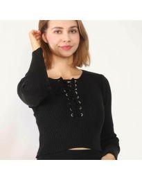 Блуза - код 6365 - црна