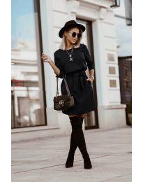 Фустан - код 6100 - црна