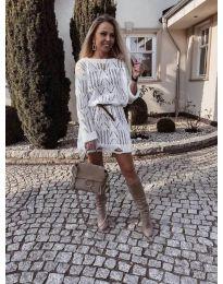 Фустан - код 6208 - бело