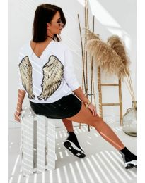 Блуза - код 4032 - бело