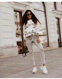 Блуза - код 41488 - бело