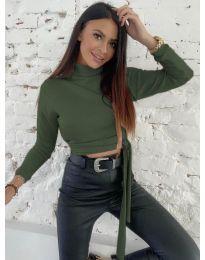 Блуза - код 5757 - путер зелена