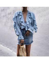 Блуза - код 9051 - светло сина