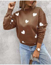 Блуза - код 3280 - 5 - кафеава