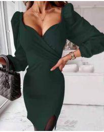 Фустан - код 2595 - темно зелена