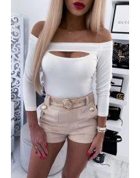 Блуза - код 4205 - бело