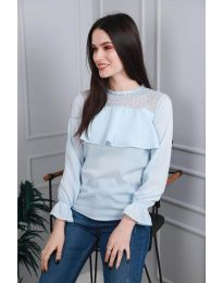 Блуза - код 0628 - 1 - светло сина