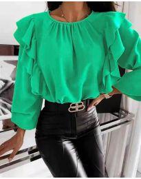 Блуза - код 4445 - зелена