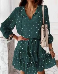 Фустан - код 7113 - зелена