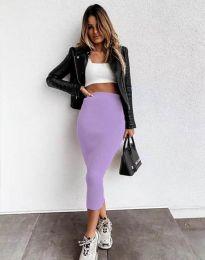 Сукња - код 2260 - виолетова