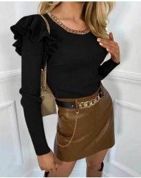 Блуза - код 8865 - 2 - црна