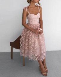 Фустан - код 4485 - 1 - пудра
