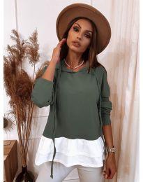Блуза - код 3898 - путер зелена