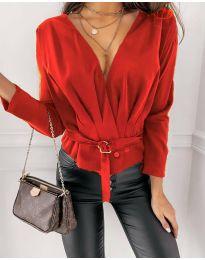 Блуза - код 5525 - црвена