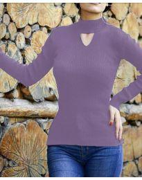 Блуза - код 5191 - виолетова