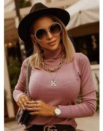 Блуза - код 8861 - розова