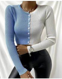 Блуза - код 6366 - 3 - шарена