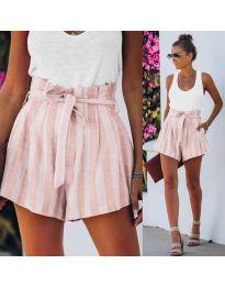 Кратки панталони - код 9096 - розова