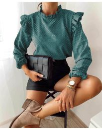 Блуза - код 5455 - тиркизна