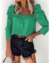 Блуза - код 9906 - зелена