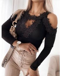 Блуза - код 4268 - црна
