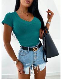 Блуза - код 756 - тиркизна