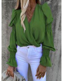 Блуза - код 5451 - зелена