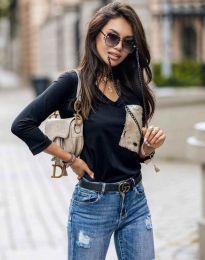 Блуза - код 12078 - црна