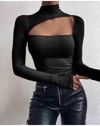 Блуза - код 4145 - црна
